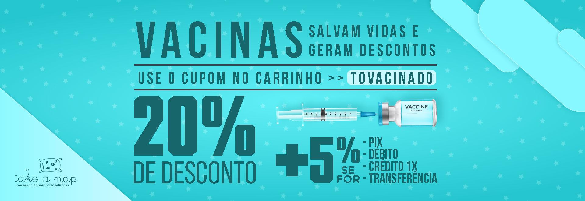 vacinados ganham desconto