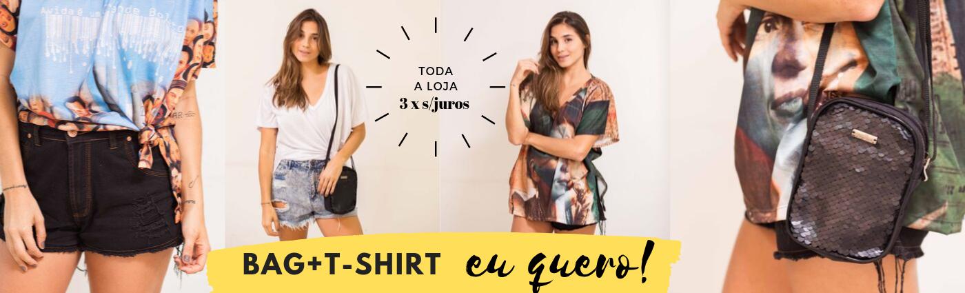 t-shirt + bag