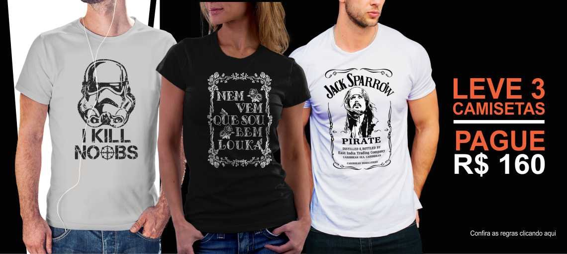 Promoção 3 camisetas