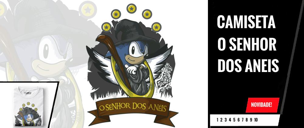 Camiseta Sonic Senhor dos Aneis
