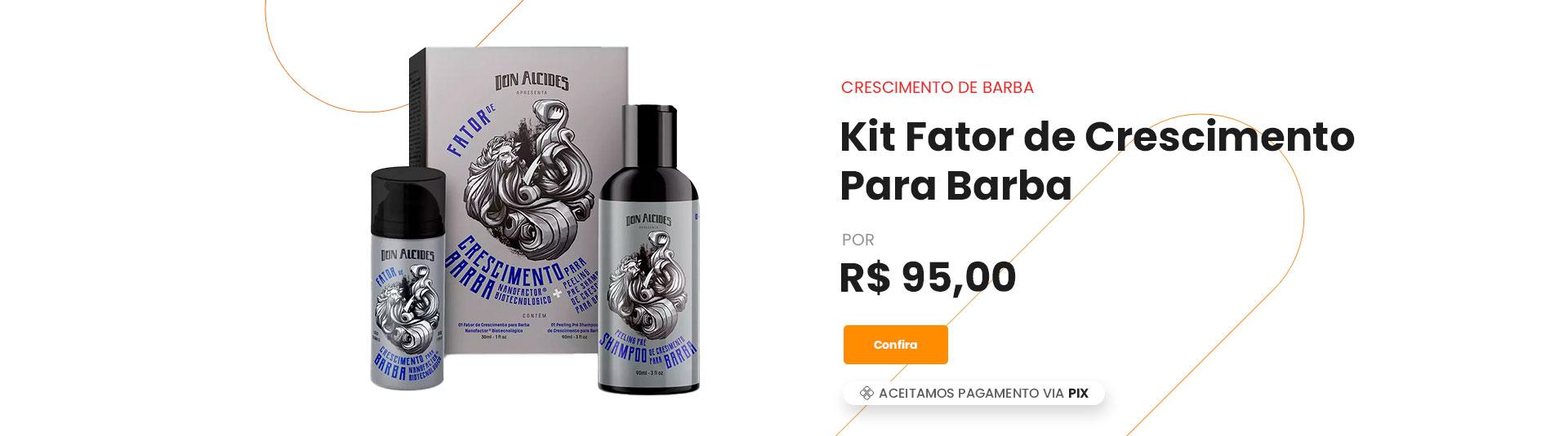 Kit Fator de crescimento don alcides promoção