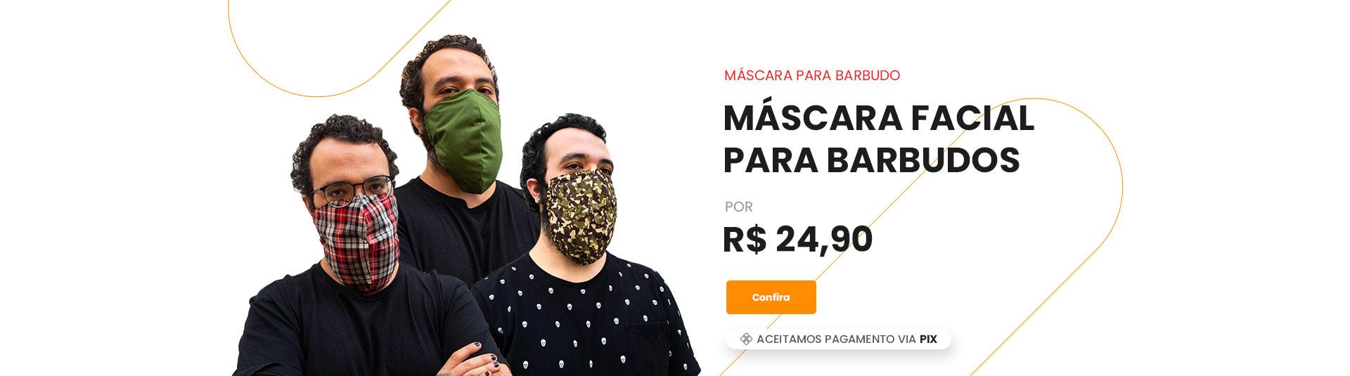 máscara para barbudos