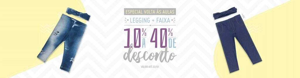 Promo volta as aulas legging