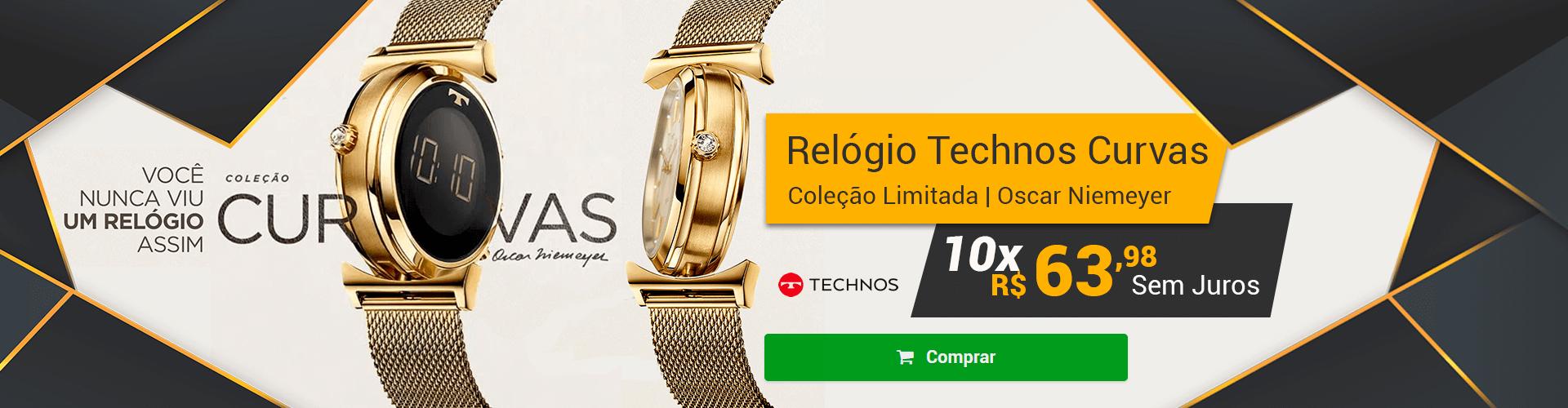 [Home] RELÓGIO TECHNOS CURVAS