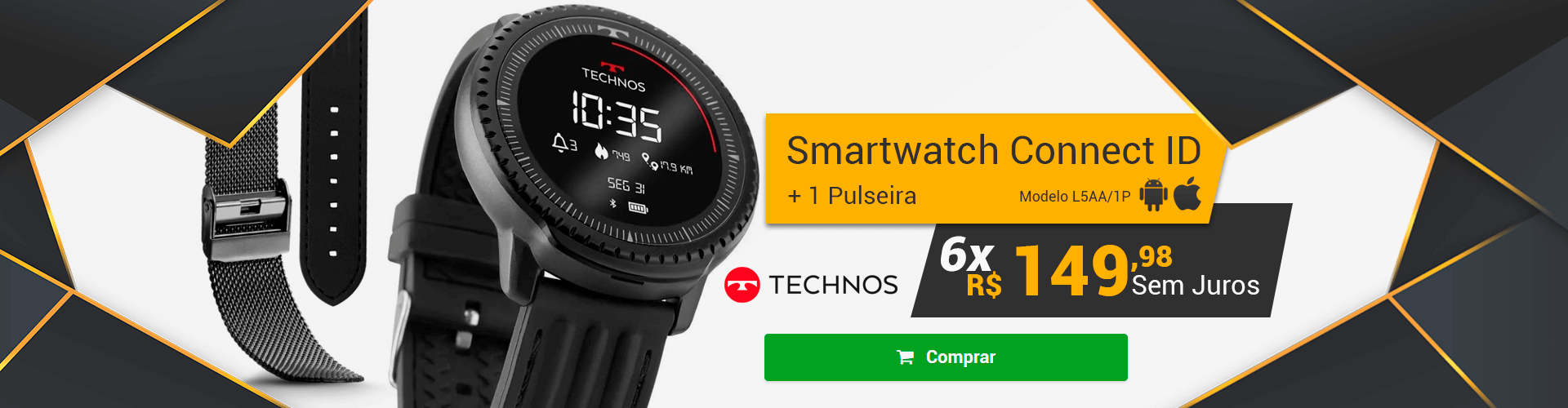 [Home] SMARTCHWATCH TECHNOS CONNECT ID