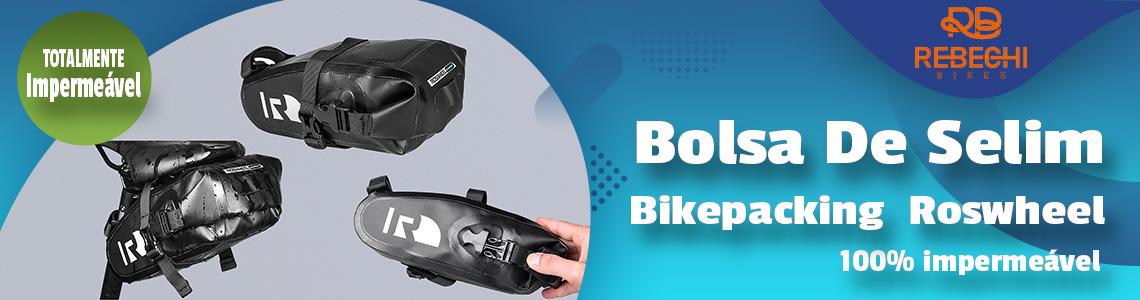 Bolsa De Selim Bikepacking Audax Alforge Preto Roswheel