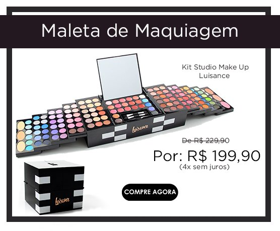 Maleta de Maquiagem Kit Studio Make Up Luisance