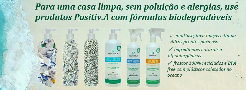 Produtos de Limpeza Positiv.A - Plástico do Oceano