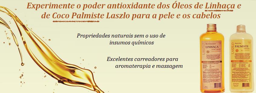 Óleos de Linhaça e Coco Palmiste Laszlo