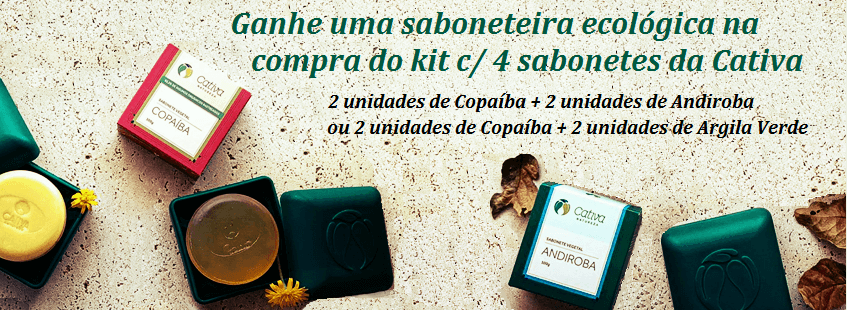 Cativa Natureza Kit Sabonetes