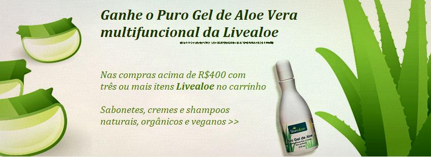 Livealoe Promoção Puro Gel de Aloe Vera