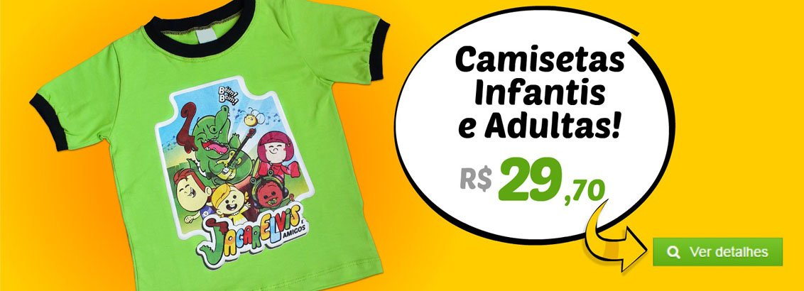 Camisetas Infantis e Adultas