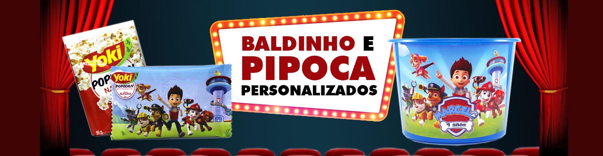 Banner Baldinho de pipoca