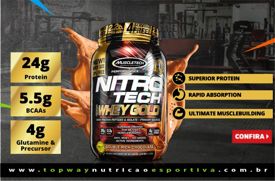 Whey: MuscleTech - NitroTEch Whey Gold