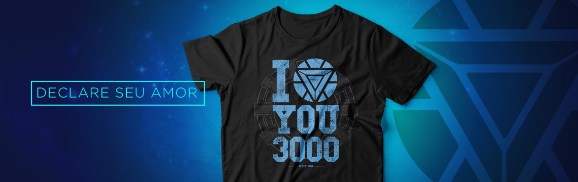 Camiseta I Love You 3000