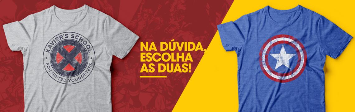 Camisetas Escudo e Xavier