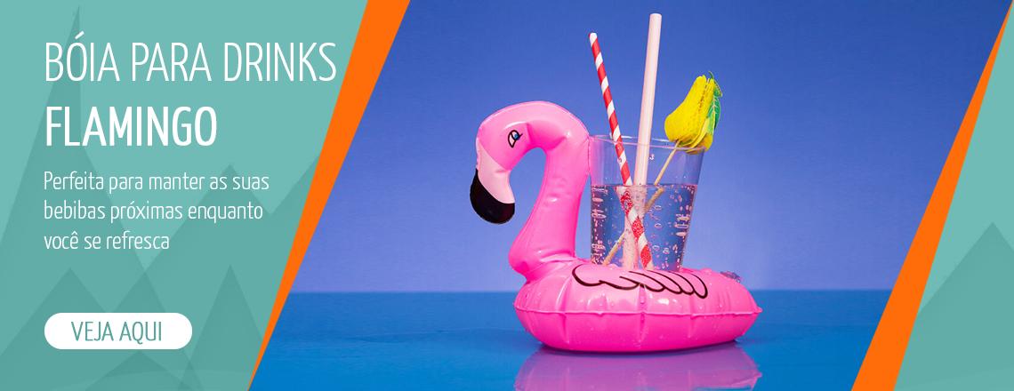 bóia dink flamingo, boia bebida flamingo, boia piscina flamingo, presente criativo, presente diferente