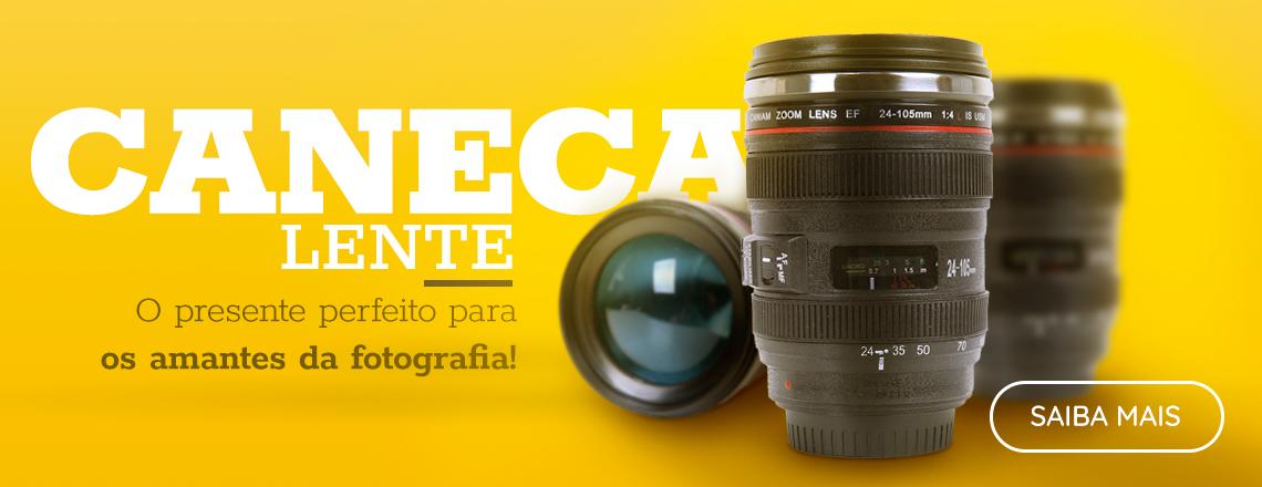 Caneca Lente, caneca lente fotografica, presentes para fotografos, presentes para quem ama fotografia