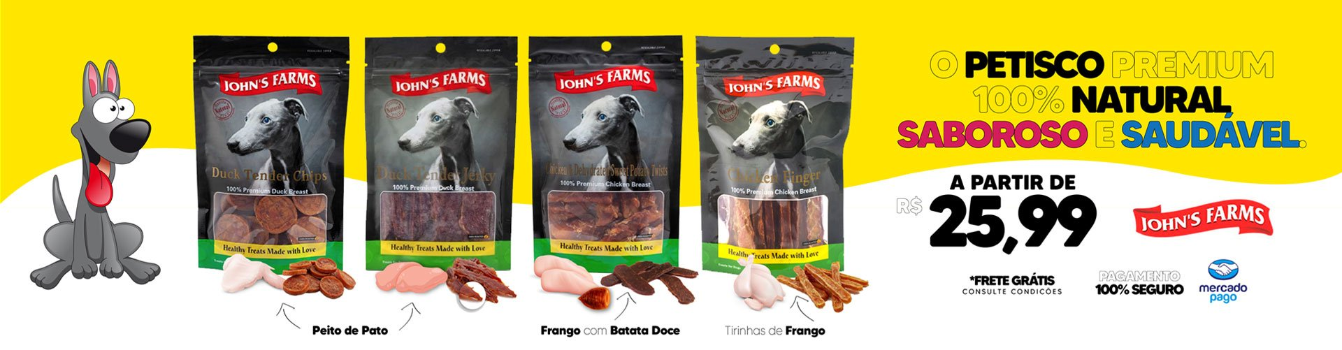 John's Farms - Petiscos para Cães