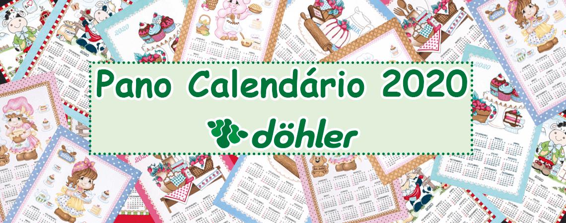 Pano de Copa Gorgurão Calendário 2020 45x62cm - Döhler