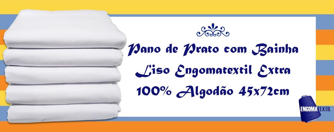 Pano de Prato com Bainha Liso Engomatextil Extra 100% Algodão 45x72cm