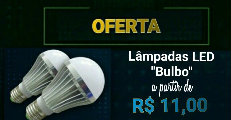 "Lâmpada de Led ""Tipo Bulboo"""
