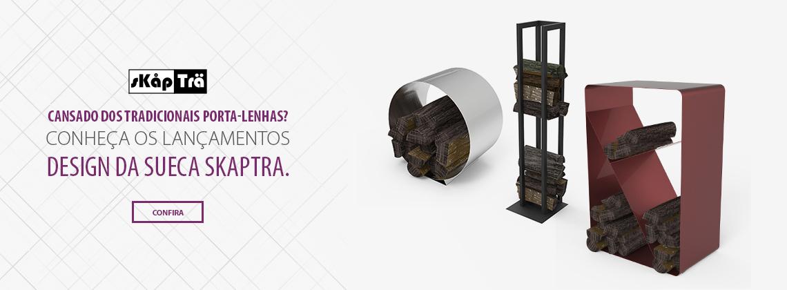 Design Norte Europeu dos Porta Lenhas da Skaptra