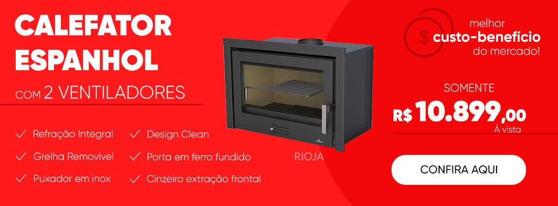 Calefator Espanhol com 2 ventiladores