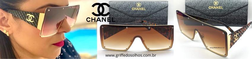 Oculos de Sol Chanel Maxi oculos Tendencia