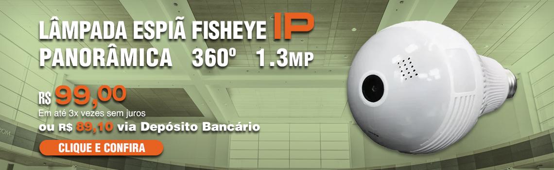 Lampada Espia Fisheye 1.3MP