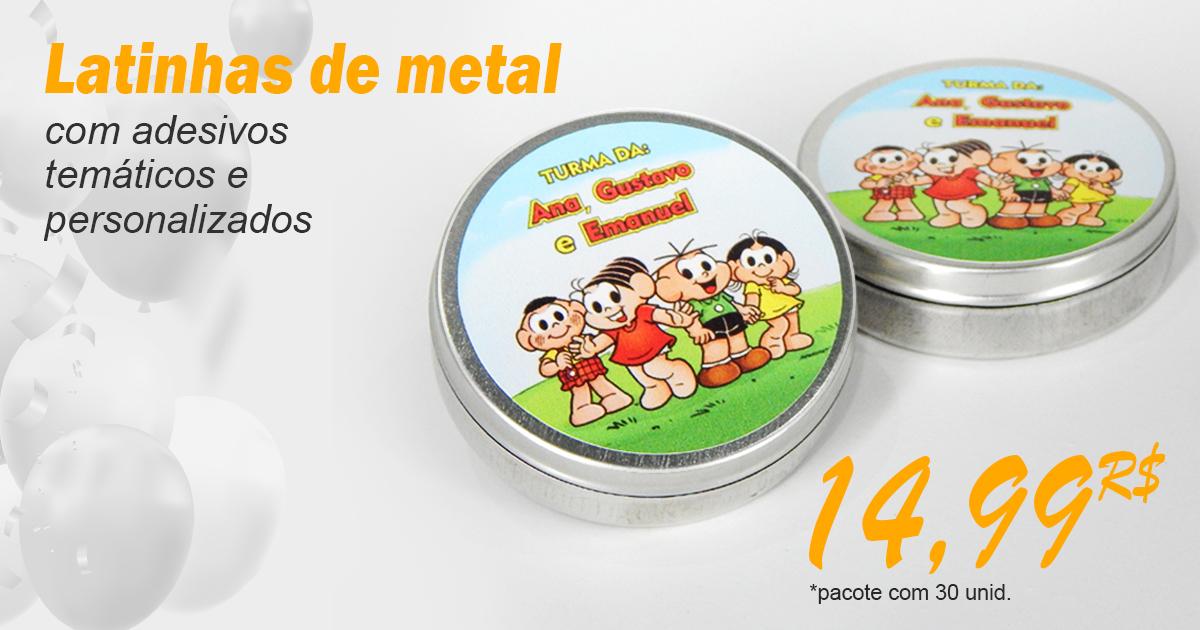 Latinhas de metal