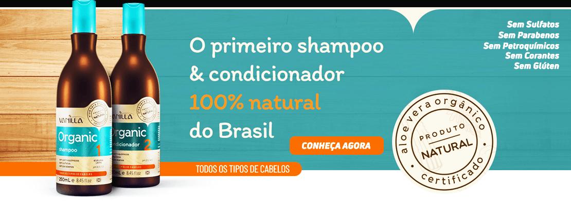 Vanilla Shampoo e Condicionador Sem Sulfato