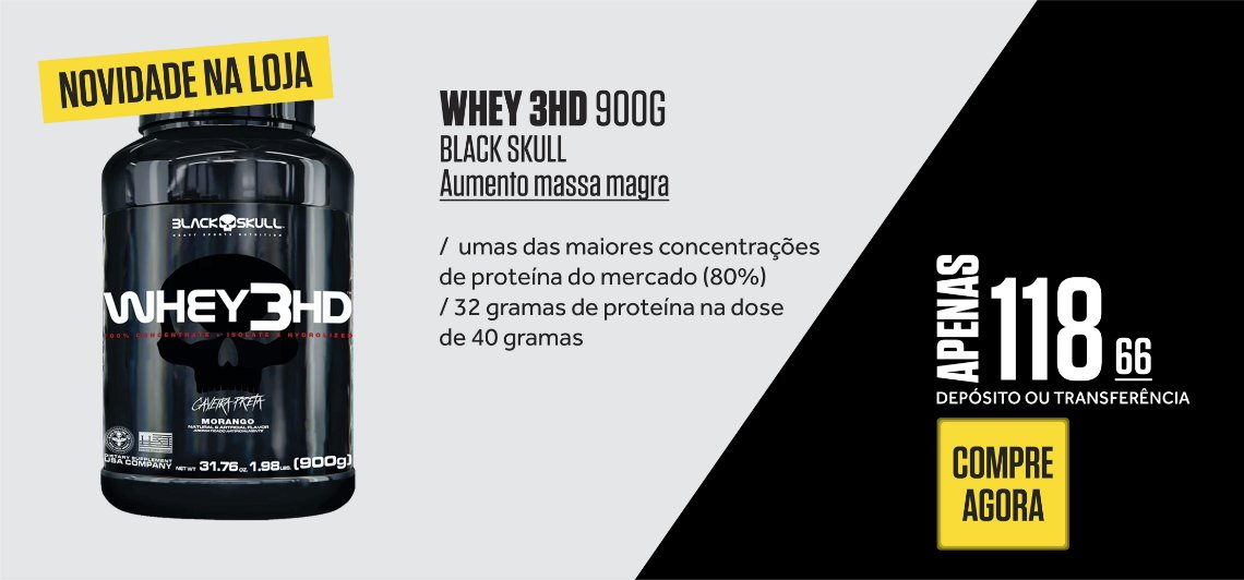 Whey 3 HD Black Skull
