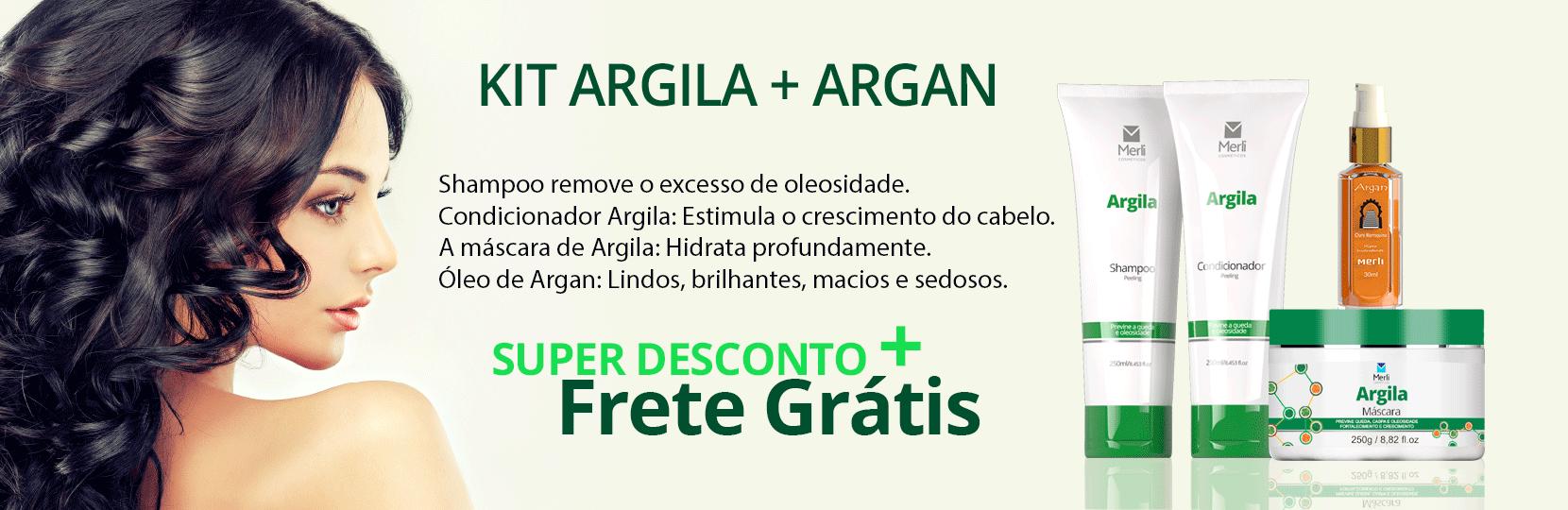kIT ARGILA + ÓLEO DE ARGAN
