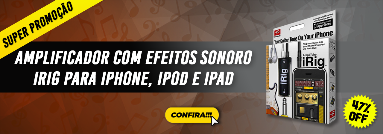 Amplificador Com Efeitos Sonoro Irig Para iPhone iPod E iPad