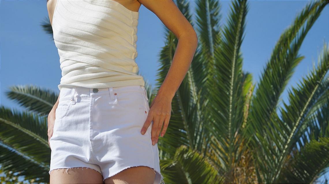 Marcelia Shorts branco
