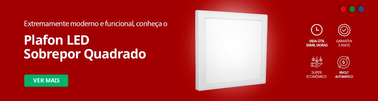 Categoria -> /plafon-led-sobrepor-quadrado - Banner Plafon LED Sobrepor Quadrado