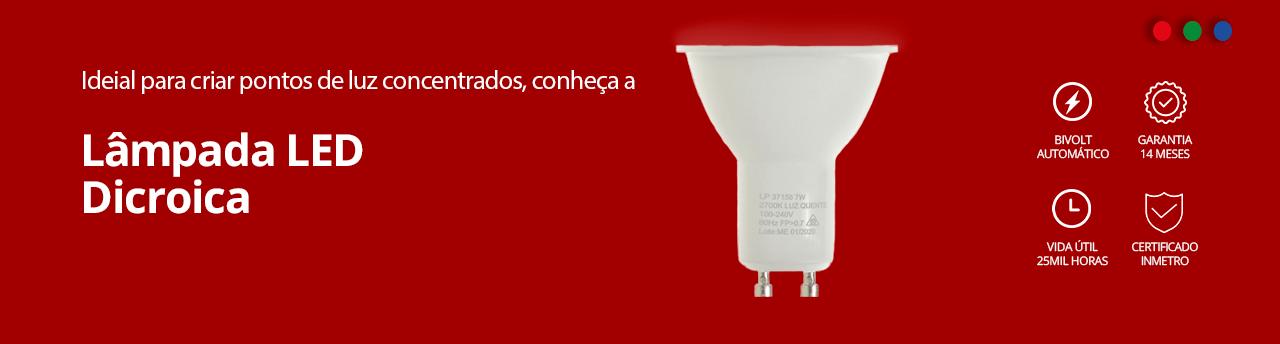 Categoria -> /lampada-led-dicroica - Lâmpada LED Dicroica