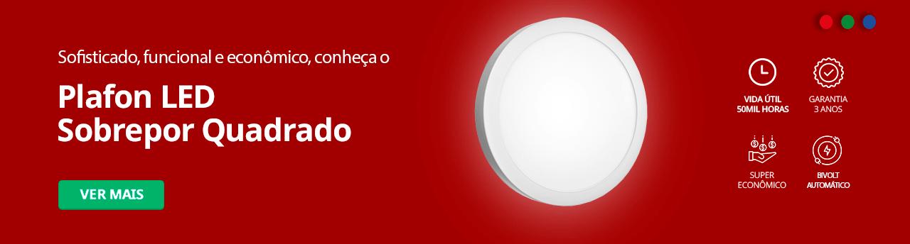 Categoria -> /plafon-led-sobrepor-redondo - Banner Plafon LED Sobrepor Redondo