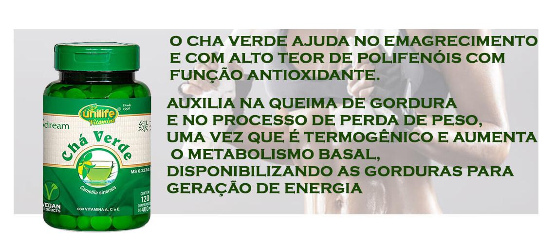 Cha Verde 400 mg - 120 Comprimidos - Unilife