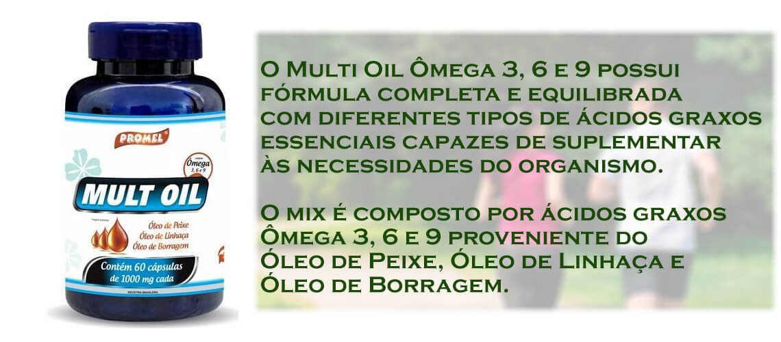 Mult Oil Omega 3 6 9 60 Cápsulas 1000 mg- Promel