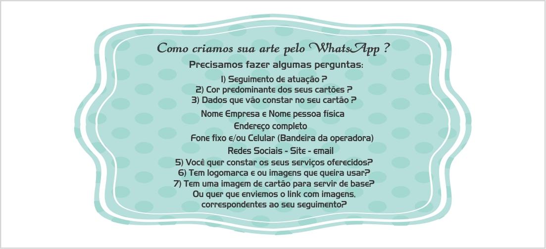 Pergunta para arte de cartão de visita