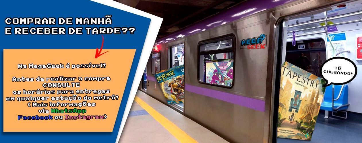 entregas no metro megageek boardgame vendas