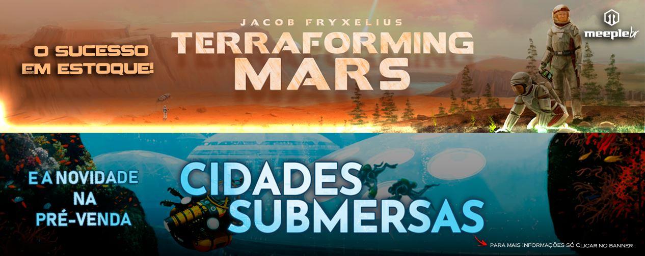 Cidades Submersas board game pré venda meeple