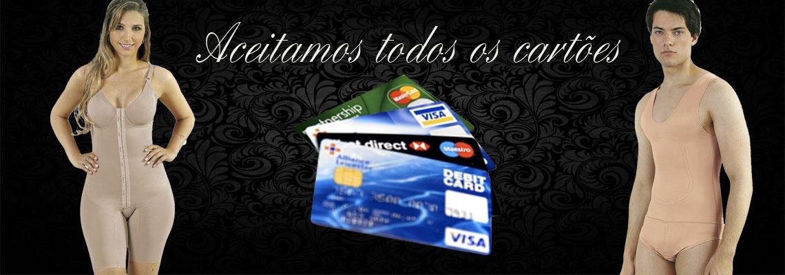 Aceitamos todos os cartôes de crédito