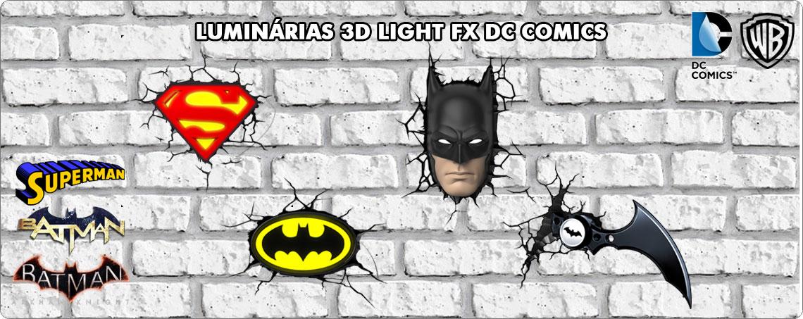 Luminárias 3D Light FX DC Comics