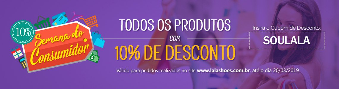 Semana do Consumidor LalaShoes 2019