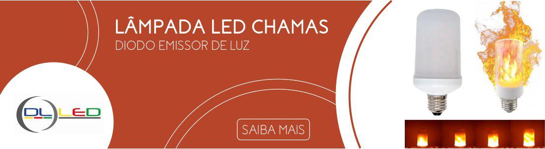 Lâmpada LED com efeito de Chamas