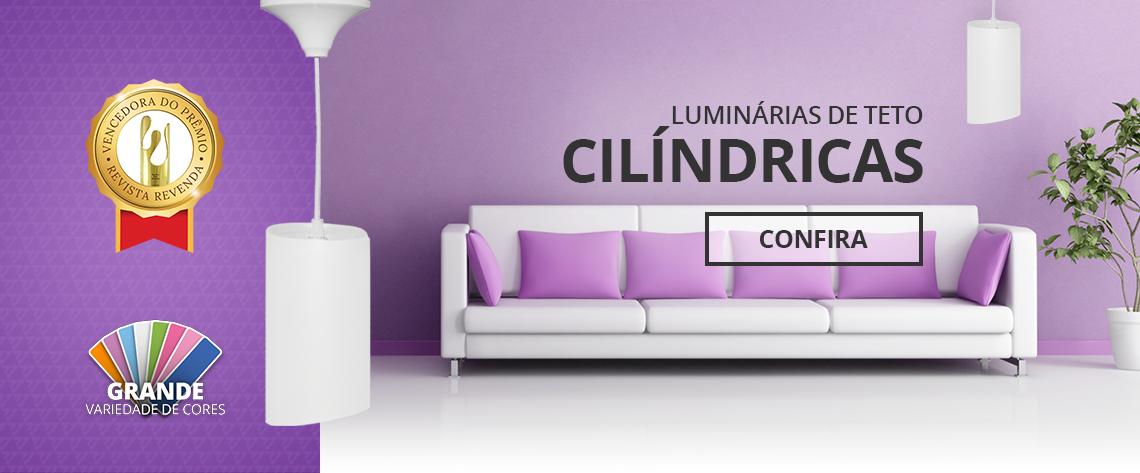 Banner Principal - Luminárias de Teto Cilíndricas