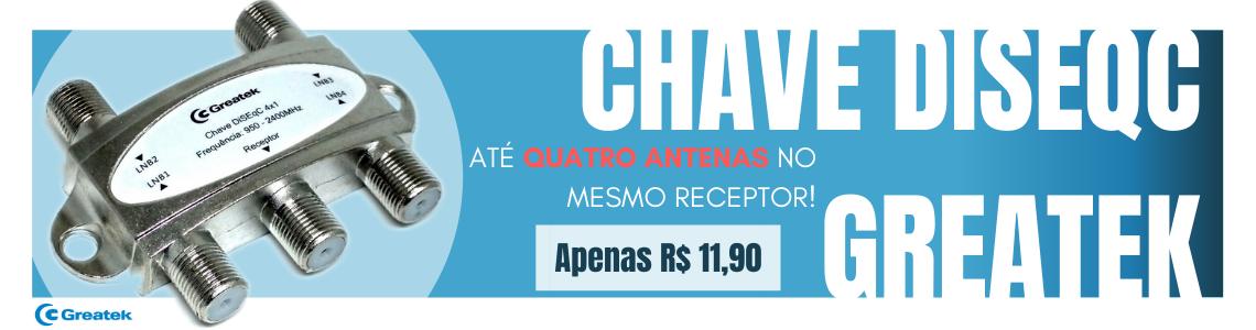 Chave Diseqc 4x1 Greatek